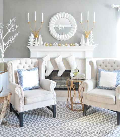 White Mantel Decor