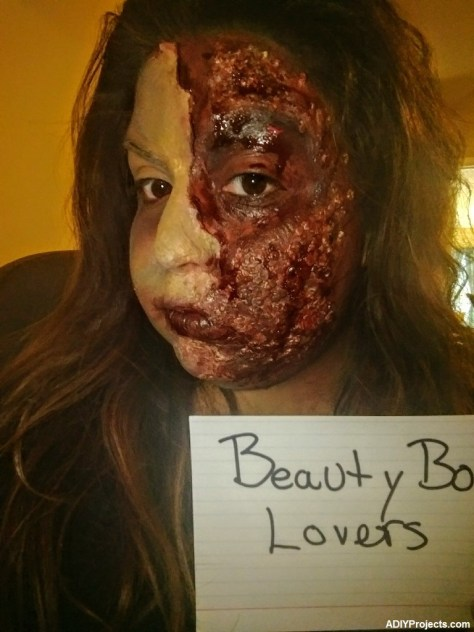 Burn Zombie Halloween Makeup