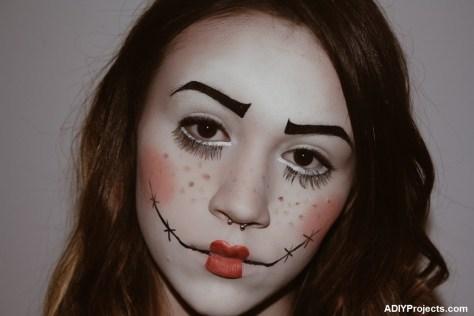 DIY Doll Halloween Makeup