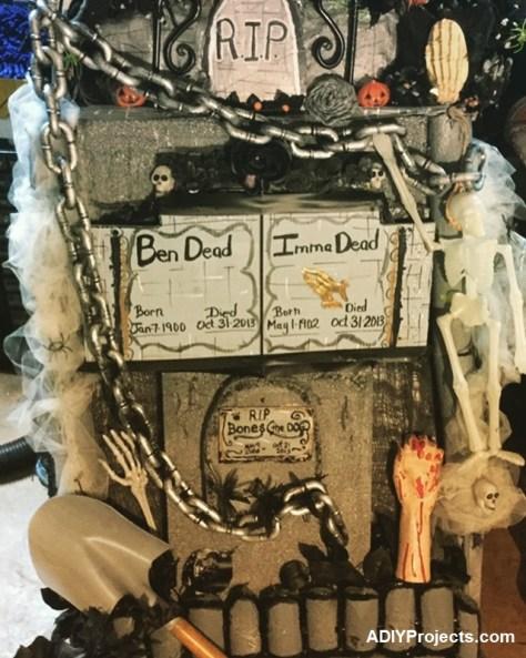 DIY Tombstone Halloween
