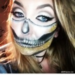 Gold Glam Skeleton Halloween Makeup Tutorial
