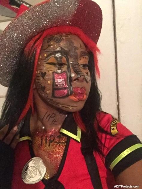 Mizz Fire Gal Halloween Makeup Tutorial