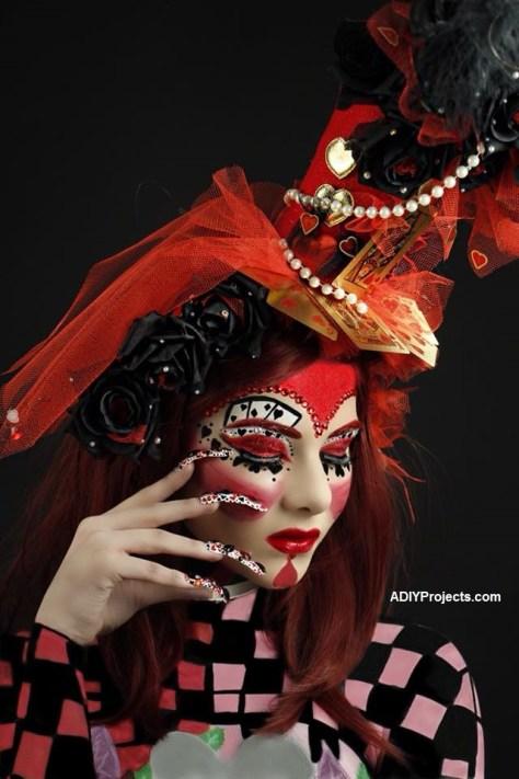 Queen of Hearts Halloween Makeup