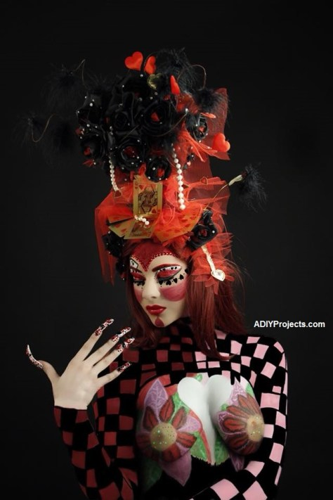 Red Queen Halloween Makeup