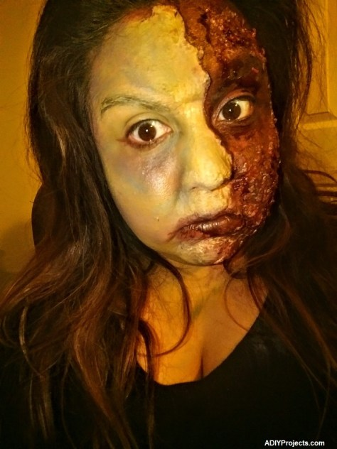 Zombie Burn Halloween Makeup