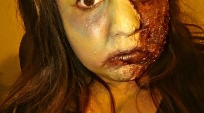 Zombie Burn Halloween Makeup Tutorial