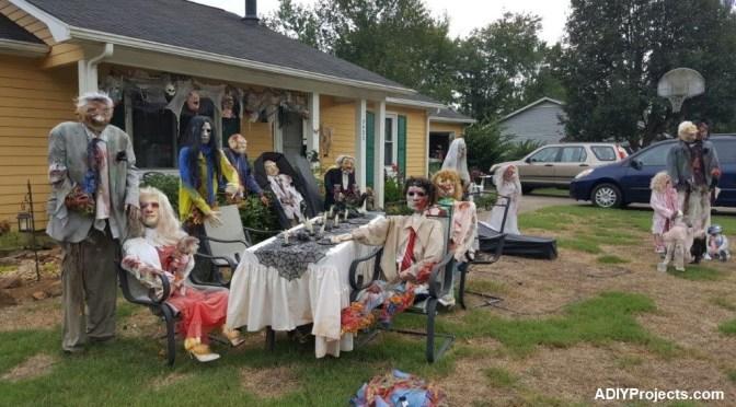 DIY Outdoor Zombies Halloween Decorations
