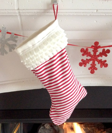 Fabric Christmas Stocking