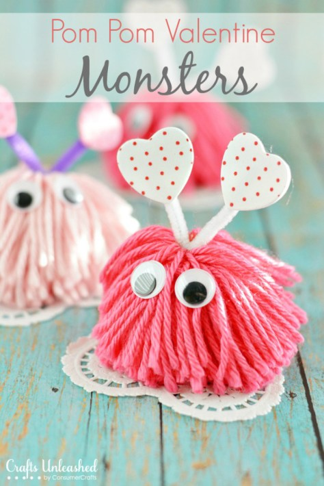 Pom Pom Valentine Monsters