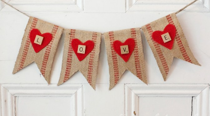 Rustic Valentines Love Banner