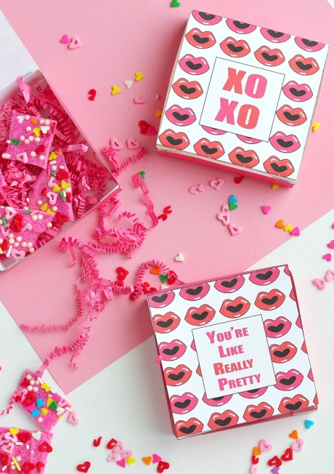 Printable Valentine's Day Gift Boxes