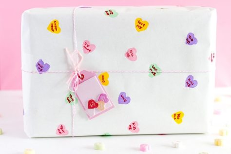Conversation Heart Wrapping Paper