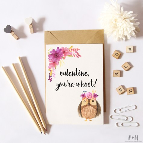 Forest Animal Valentines Cards