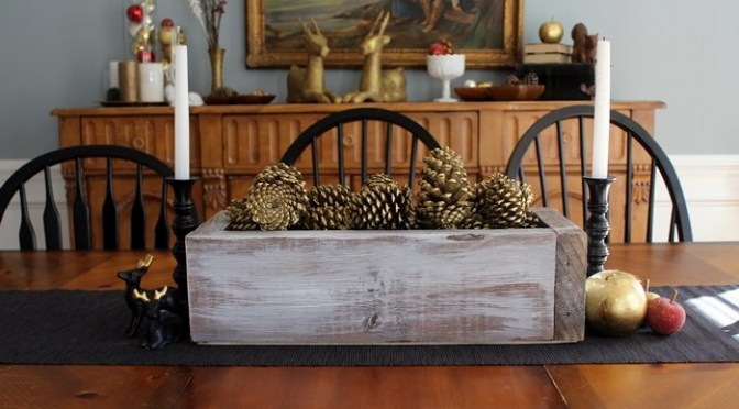 Rustic Wooden Box Centerpiece