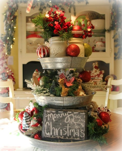 Galvanized Tray Centerpiece