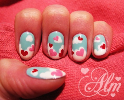 Love is in the Air Nail Art