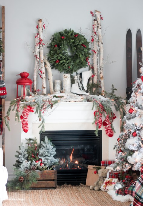 Wintry Living Room Decoration