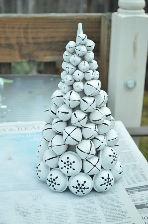 White Jingle Bells Christmas Tree