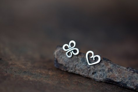 Love and Luck - Tiny Stud Earrings