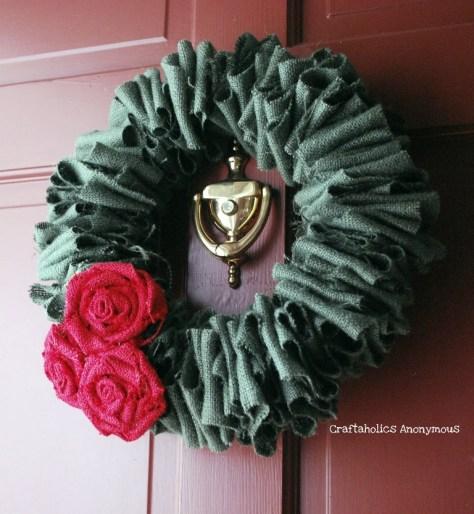 Burlap Roses Wreath