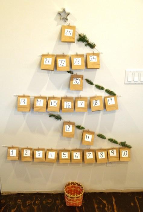 Christmas Advent Calendar Tree