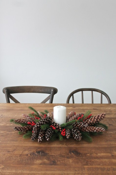 Pinecones & Berries Christmas Centerpiece