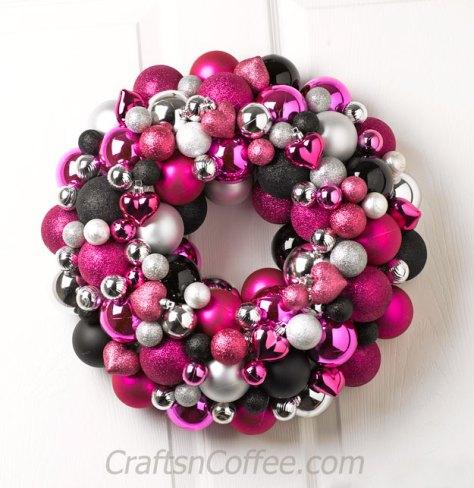 Valentine's Day Ornament Wreath