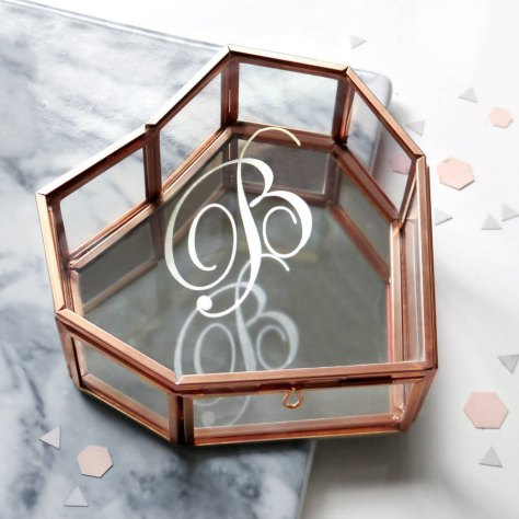Rose Gold Heart Jewellery Box