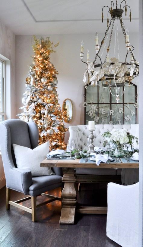 Living Room With Vintage Christmas Tree