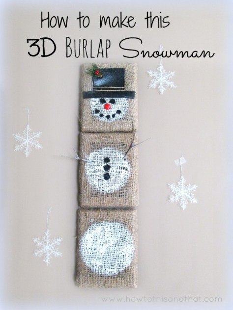 Burlap Snowman Craft