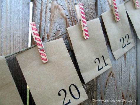 Paper Sack Clothespin Advent Calendar