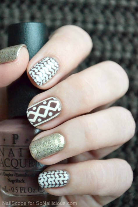 Sweater Nail Art