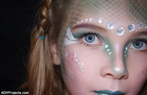 Glamorous Mermaid Halloween Makeup For Kids