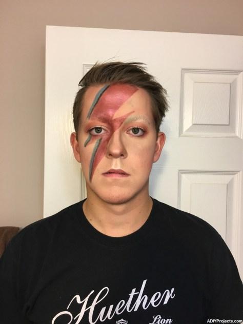 David Bowie Inspired Halloween Makeup