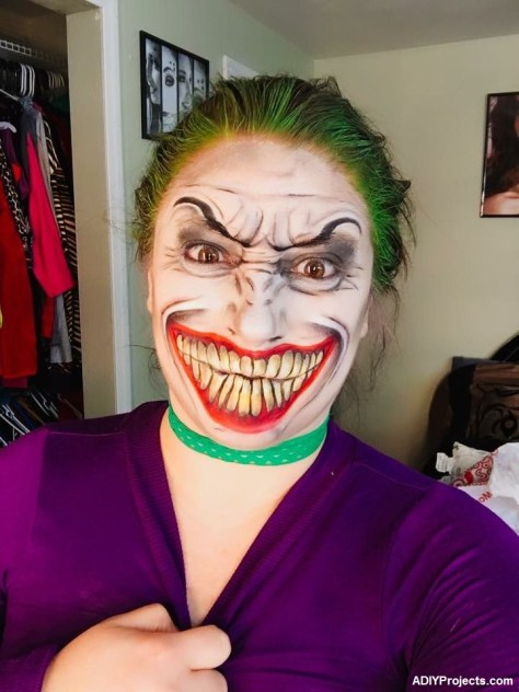 Lady Joker Halloween Makeup
