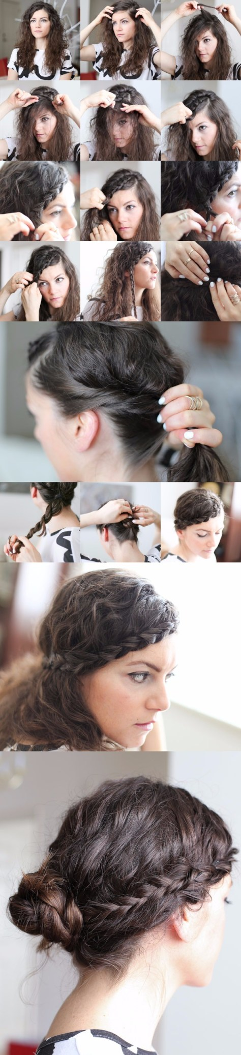 Messy Braided Hair Tutorial