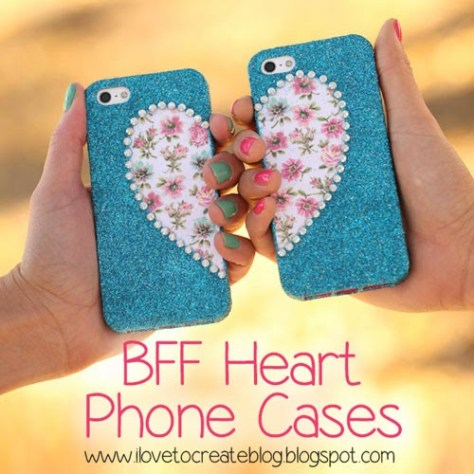 BFF Heart Matching Phone Cases