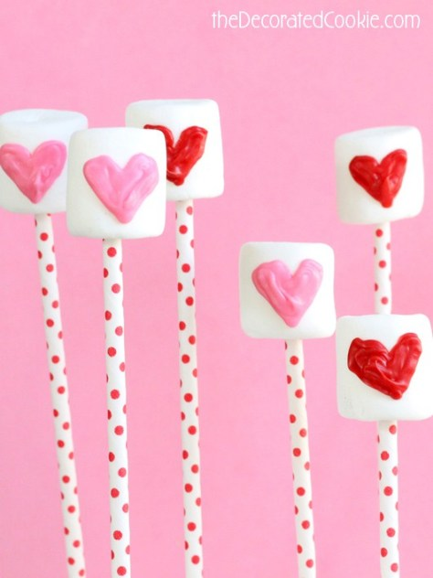 Candy Heart Marshmallow Pops