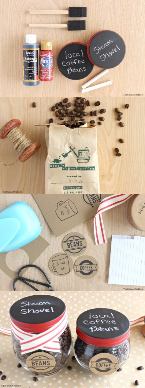 Coffee Beans Gift Jars Tutorial