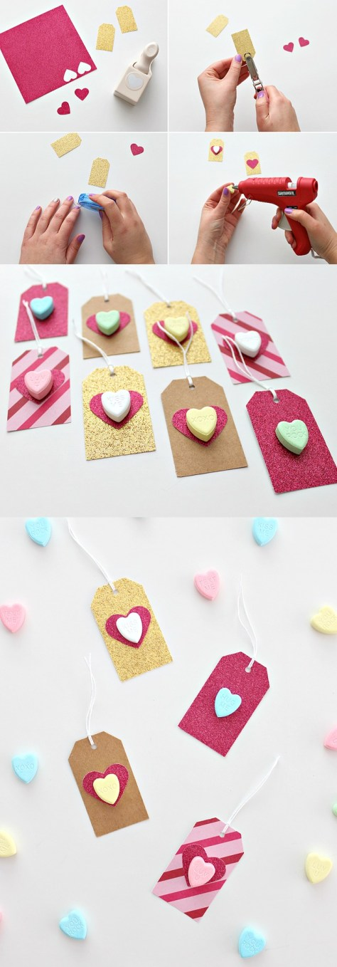 Conversation Heart Gift Tags Tutorial