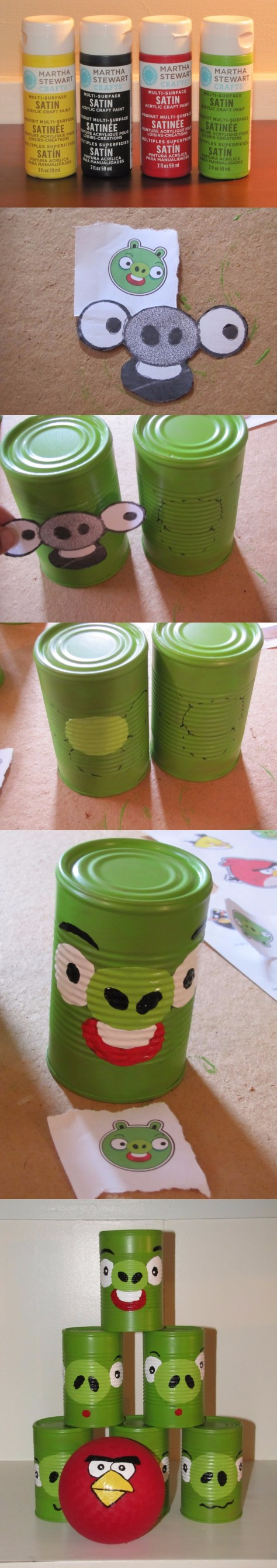 DIY Angry Birds Can Toss Game