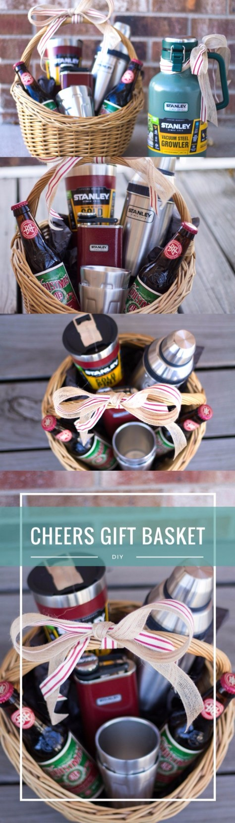 DIY Cheers Gift Basket