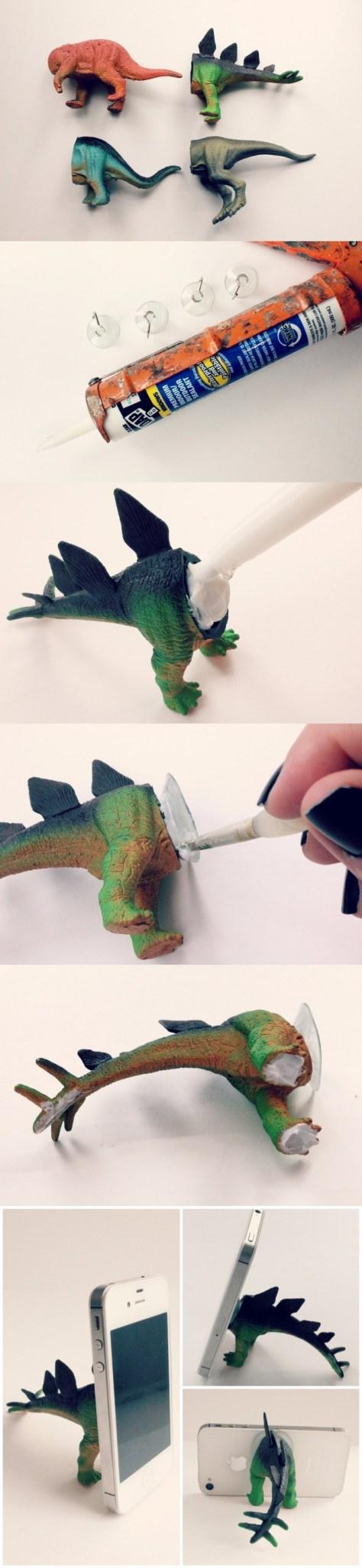 DIY Dinosaur Phone Stand