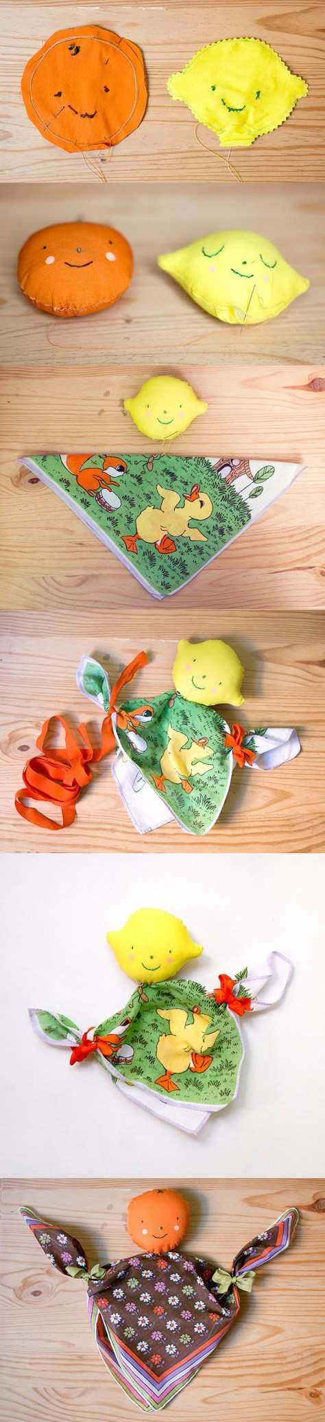 DIY Handkerchief Dolls