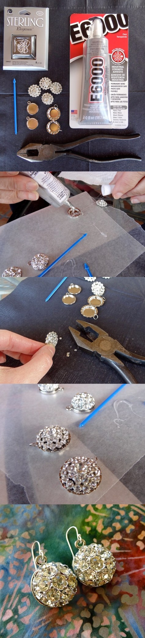 DIY Vintage Button Earrings