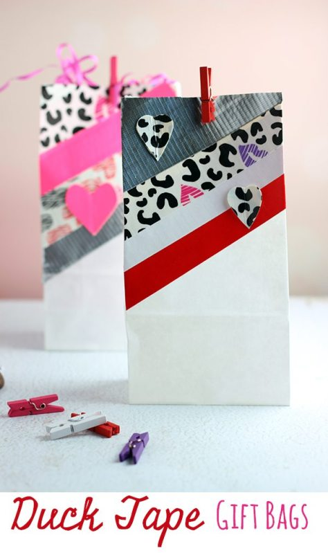 Duck Tape Gift Bags