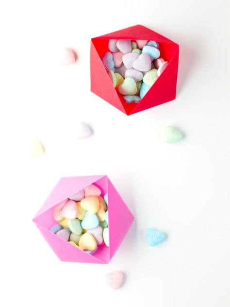Easy Origami Candy Boxes