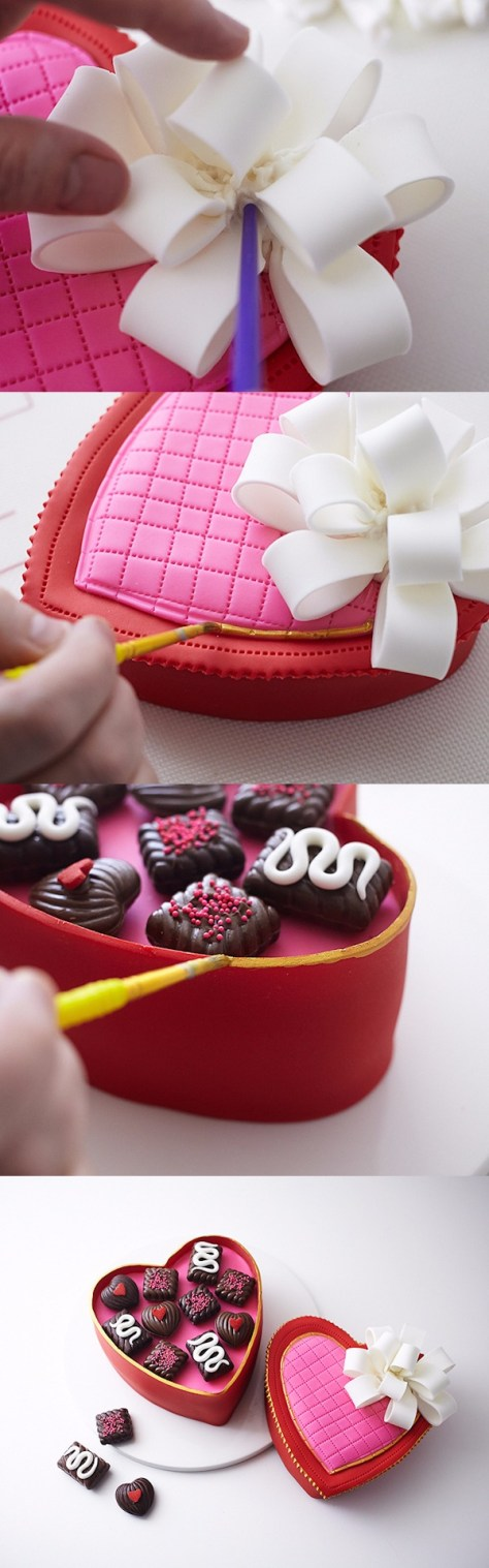 Heart Candy Box Cake Tutorial