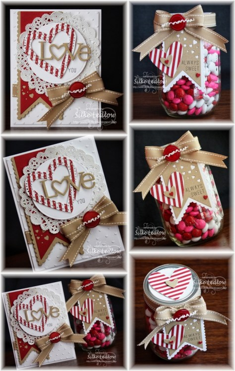 Paper Crafted Mason Jar Gift Tutorial