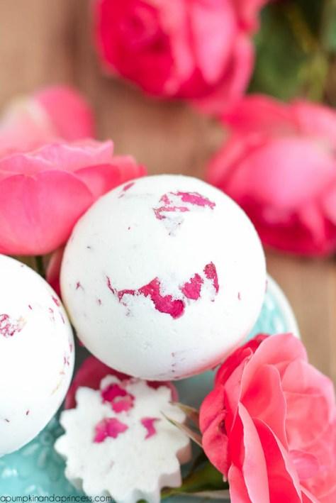 Rose Milk Bath Bombs